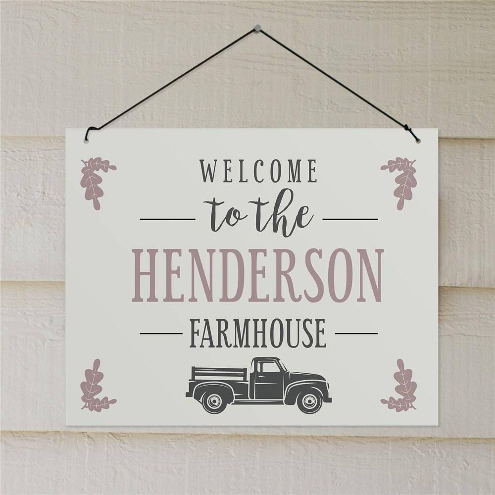 Personalized Welcome To The Farmhouse Wall Sign