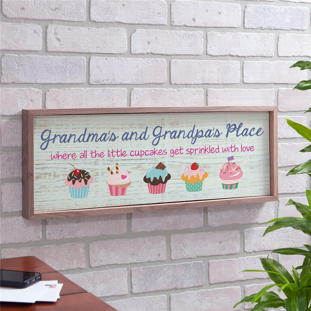 Personalized Sprinkled With Love Cupcake Wall Sign