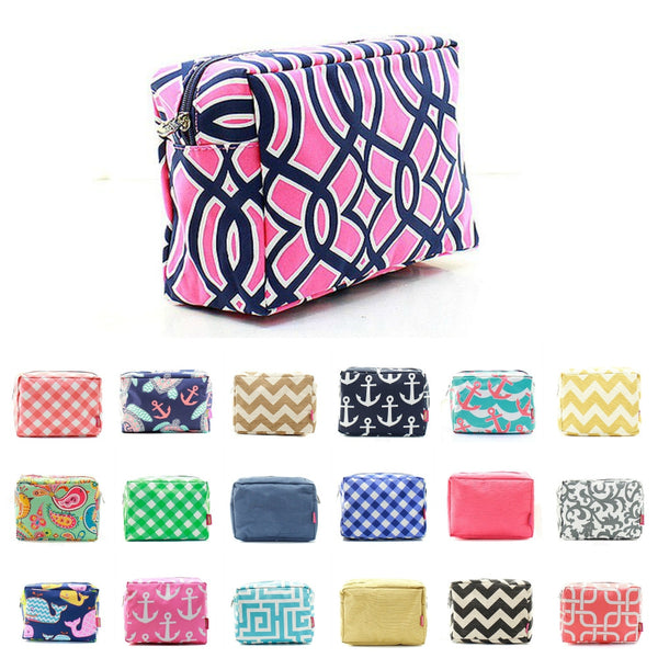 "Cute Patterned 9"" Cosmetic Bag Makeup Case - Gifts Happen Here"