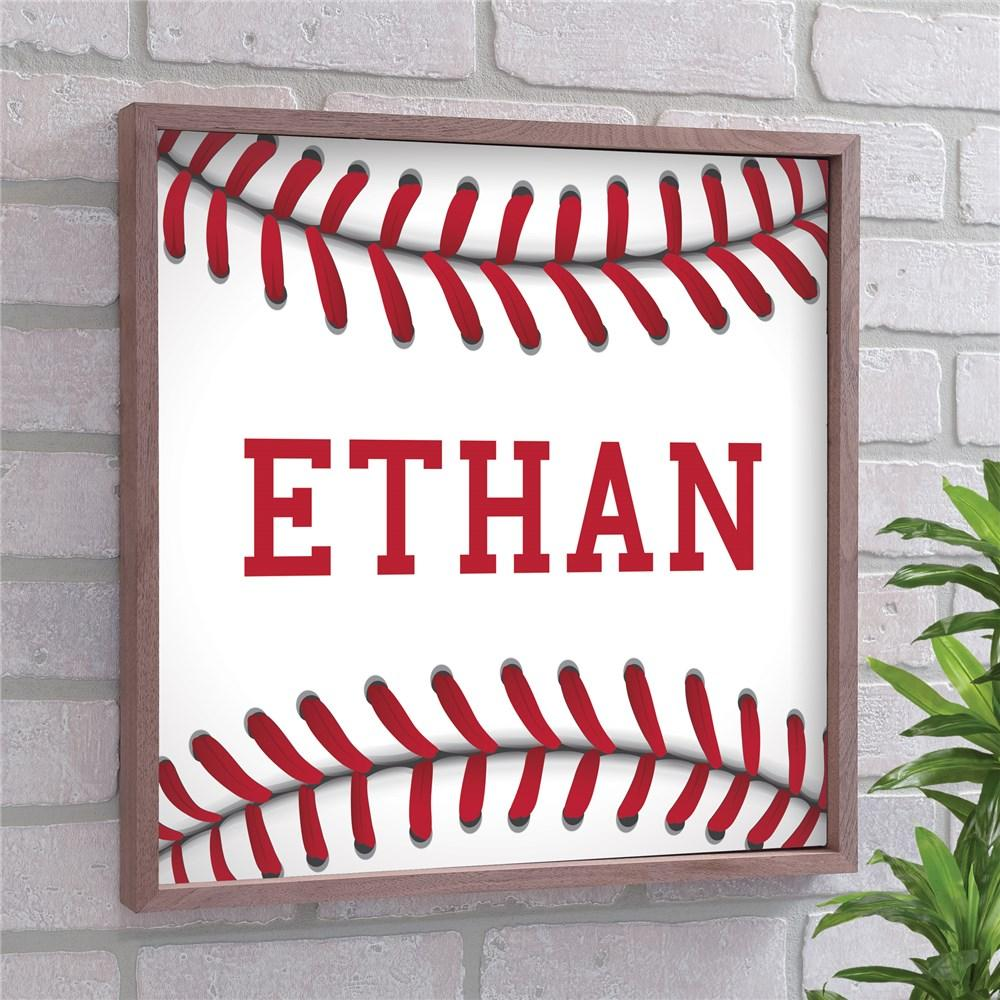 Personalized Baseball Framed Wall Sign