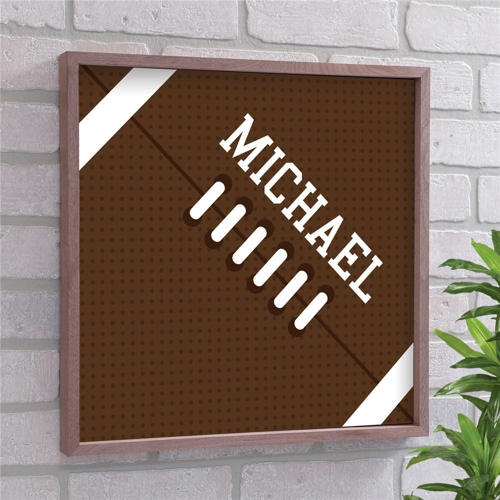 Personalized Football Framed Wall Sign