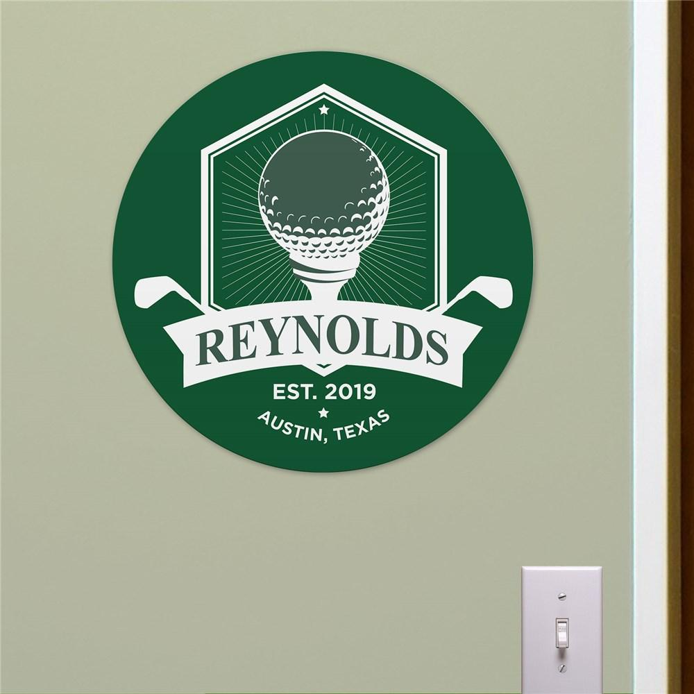 Personalized Golf With Banner Round Sign