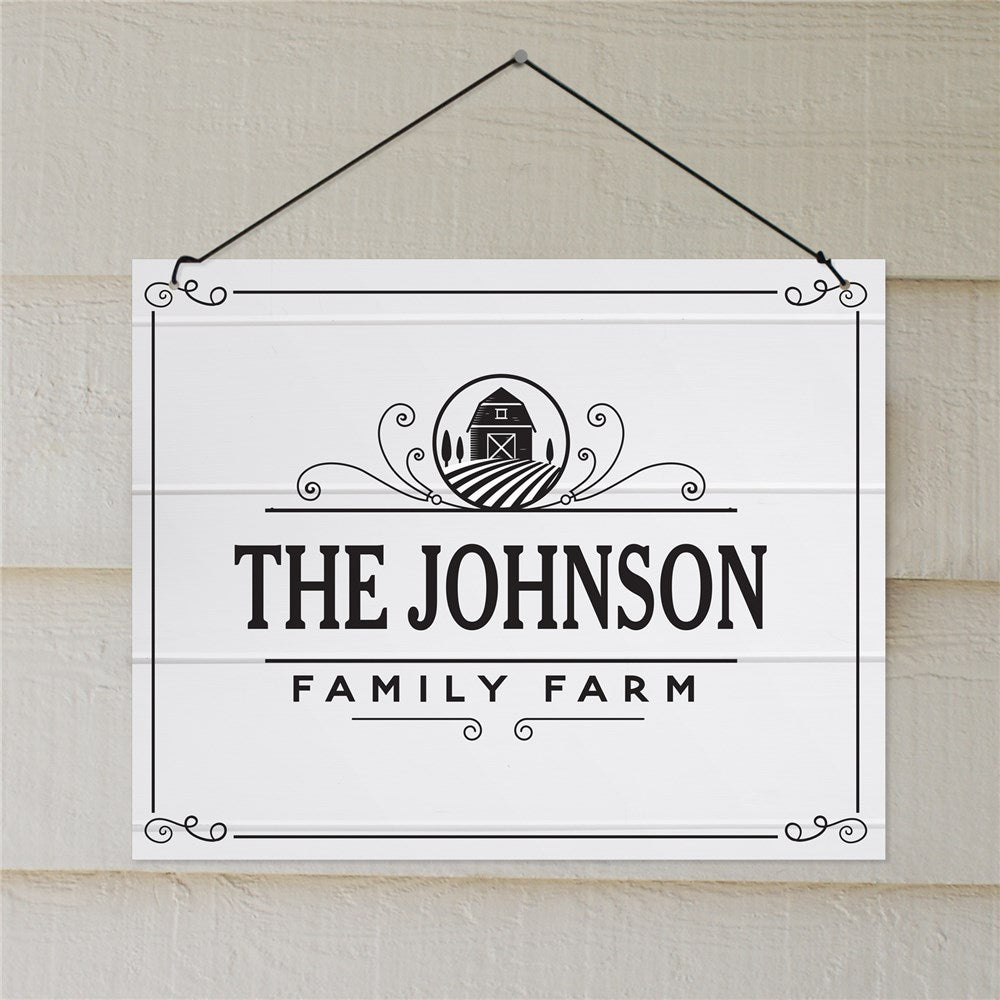 Personalized Family Farm Hanging Sign