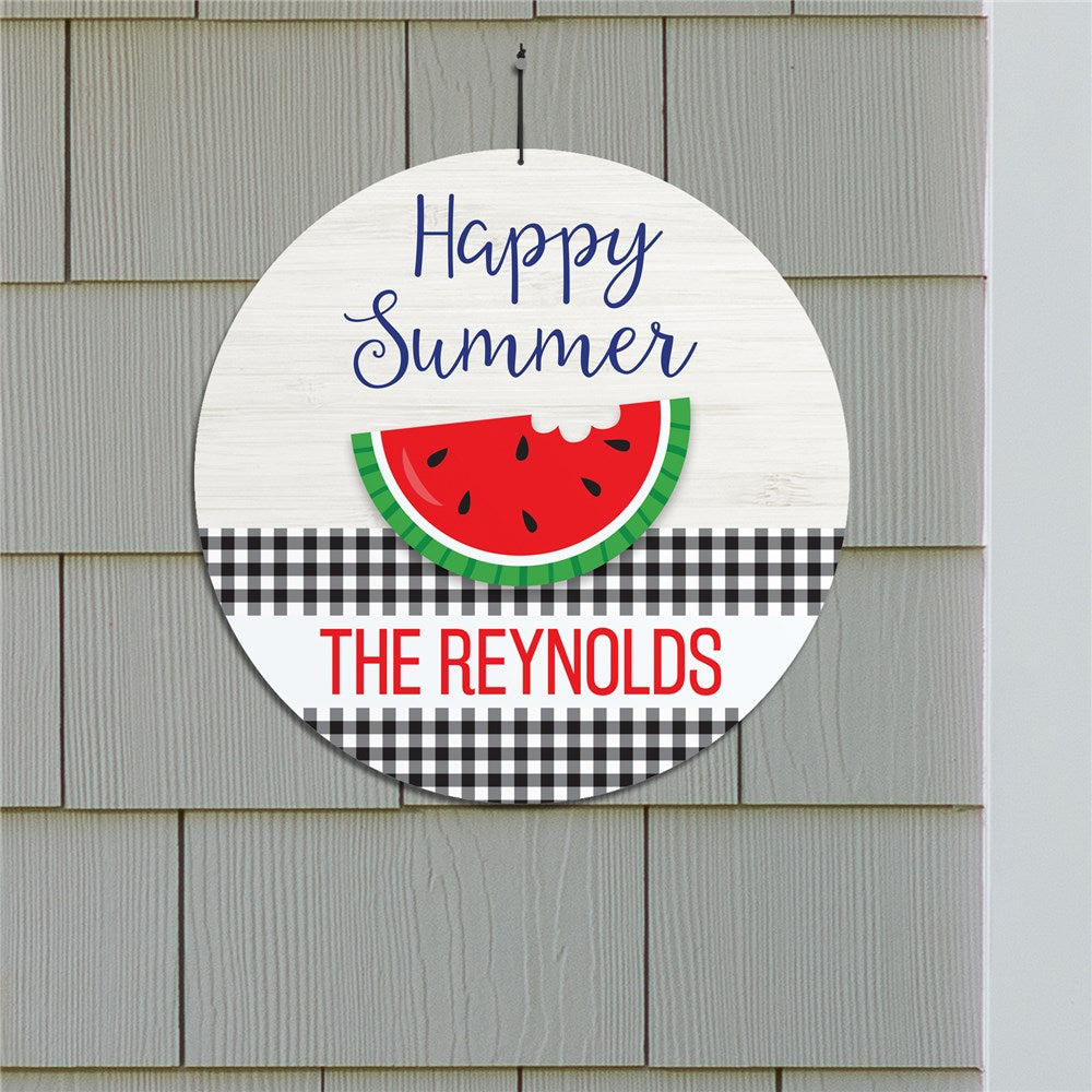 "Personalized Happy Summer 13"" Circle Sign"