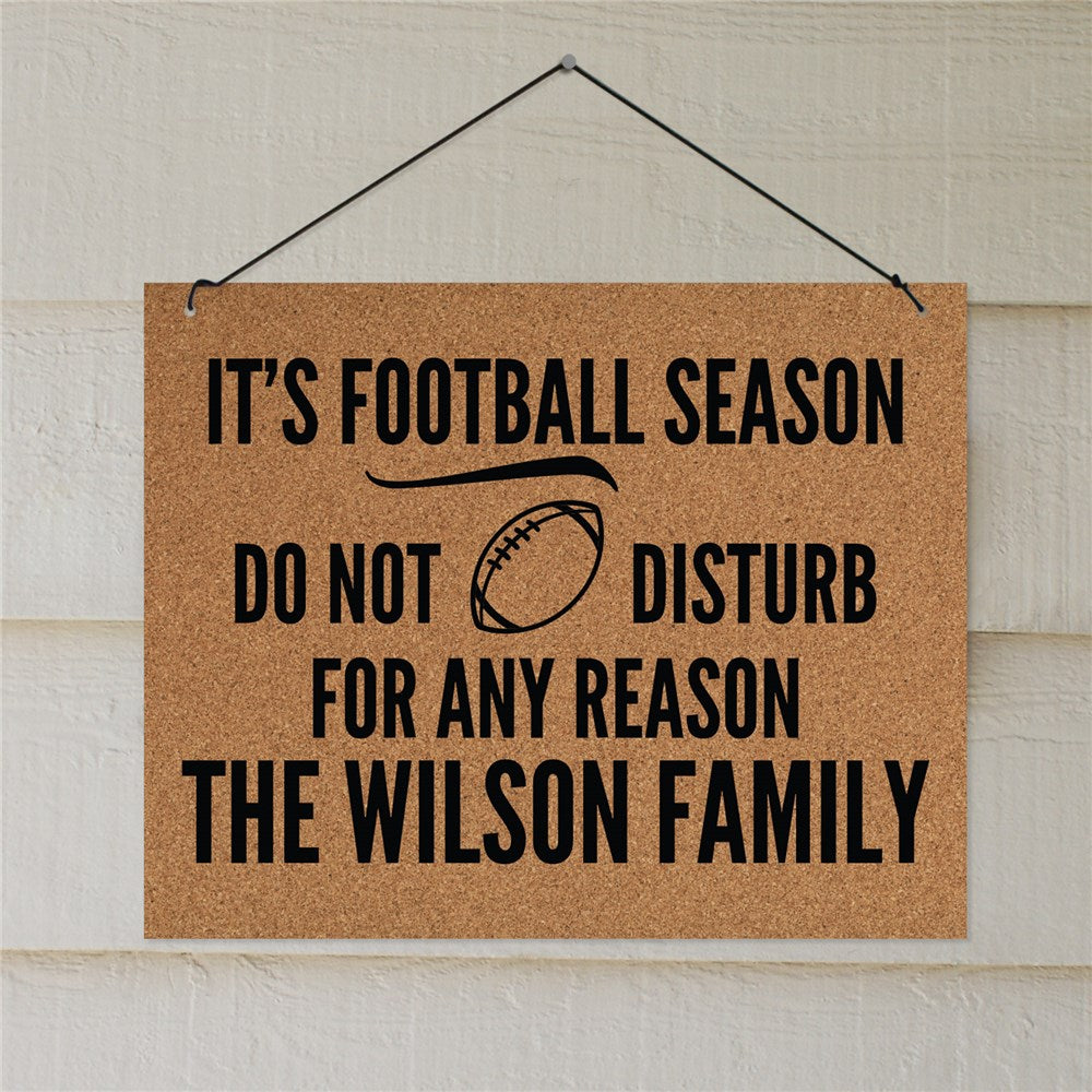 Personalized It's Football Season Wall Sign