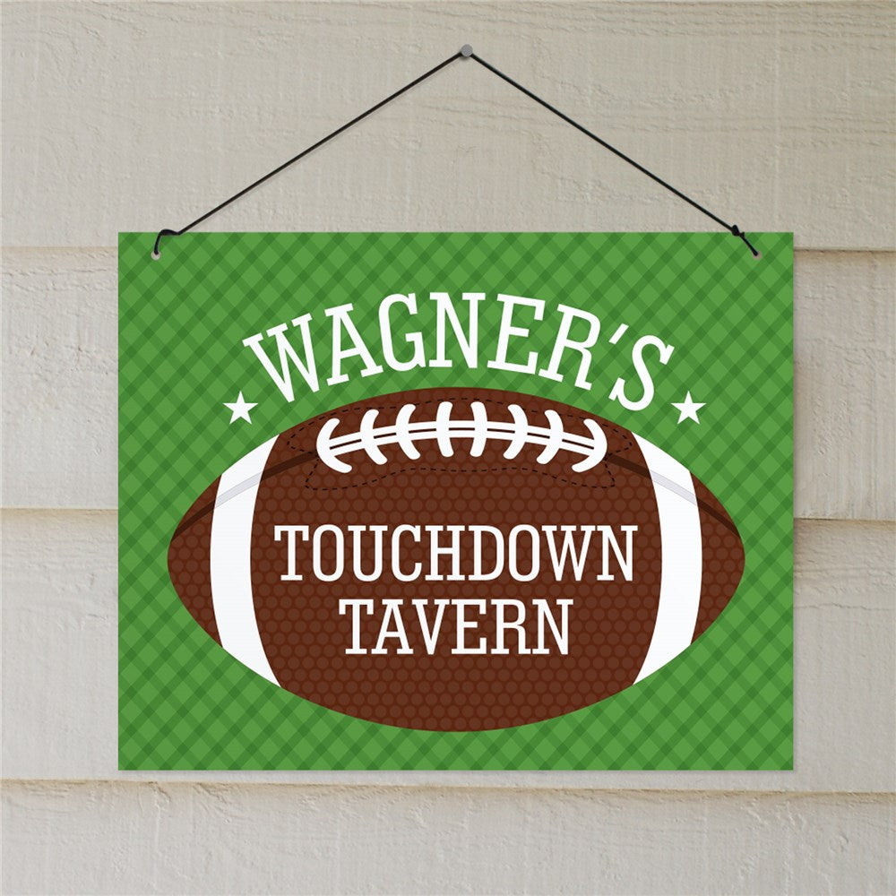 Personalized Touchdown Tavern Wall Sign