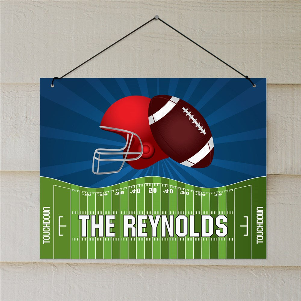 Personalized Football Helmet Wall Sign