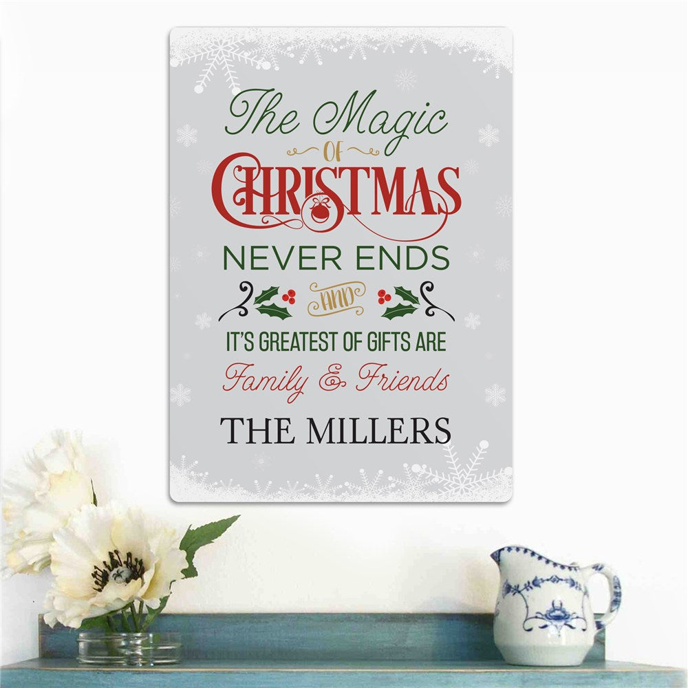 Personalized The Magic Of Christmas Wall Sign