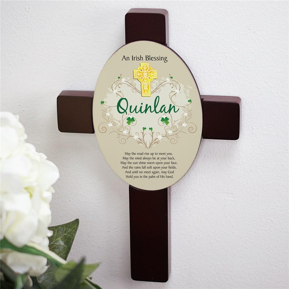 Personalized Irish Blessing Keepsake Wall Cross