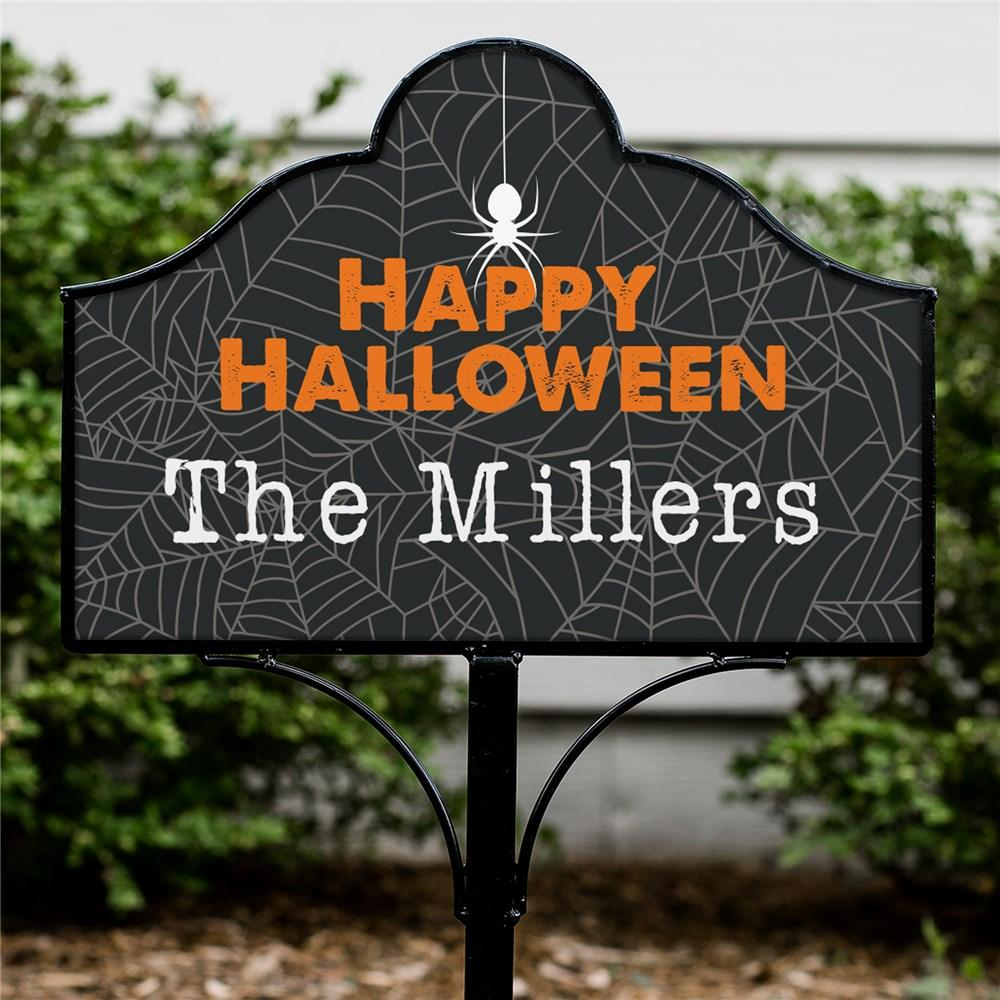 Personalized Happy Halloween Magnetic Yard Sign