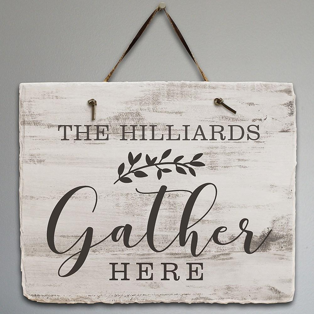 Personalized Gather Slate Plaque