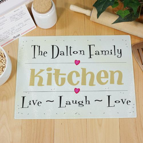Personalized Live Laugh Love Cutting Board