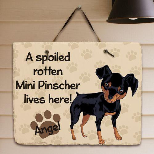 Personalized Mini Pinscher Wall Slate