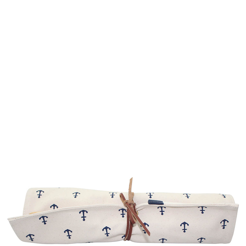 Personalized Utility Roll Organizer Navy Anchors