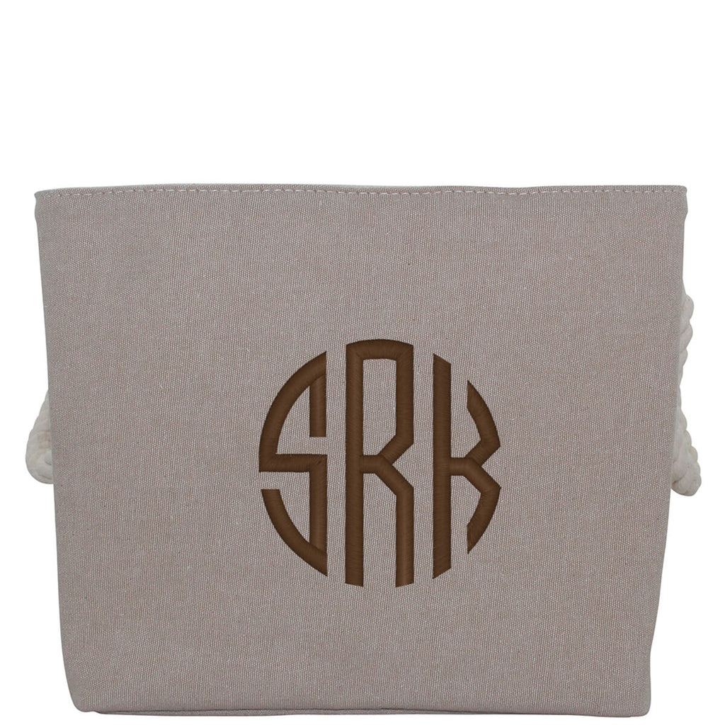 Personalized Jute Storage Small With Rope Handle