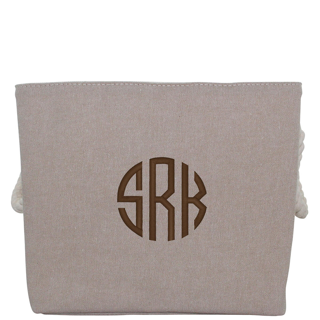 Personalized Jute Storage Medium With Rope Handle