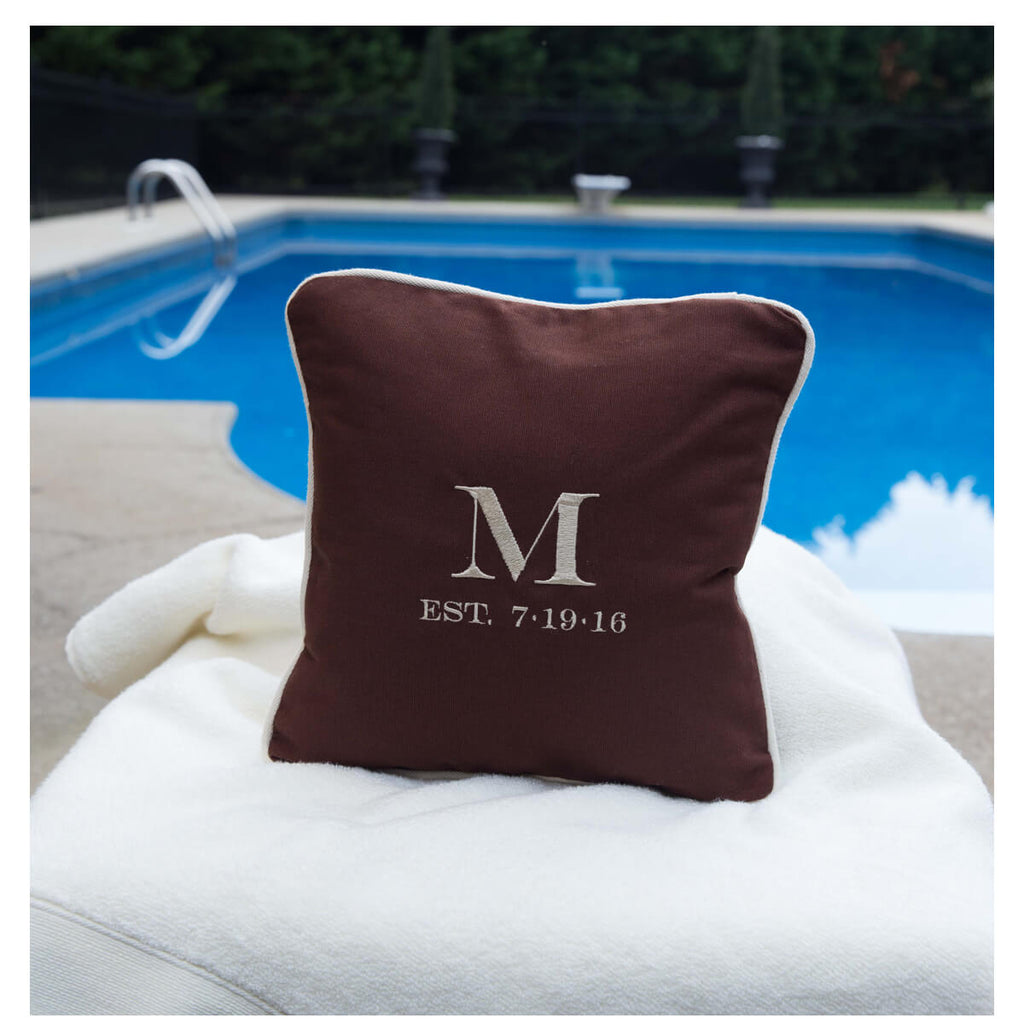 Personalized Monogram Pillow With Insert 12 x 12