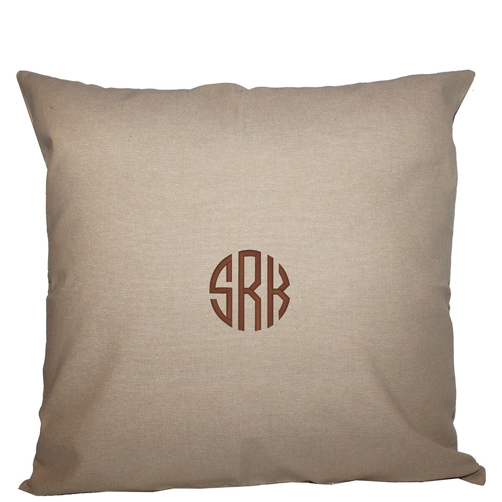 Personalized Square Pillowcase Jute 24 x 24