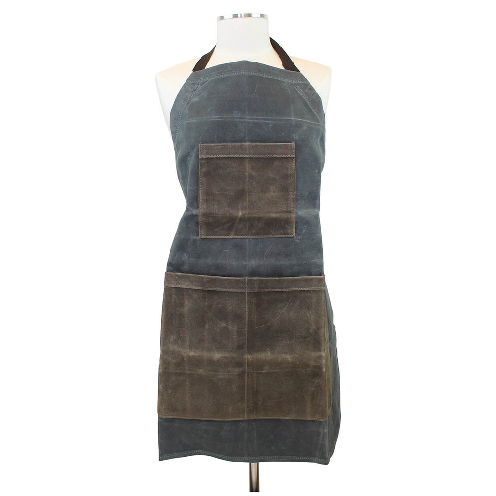Personalized Waxed Canvas Two-Toned Utility Apron