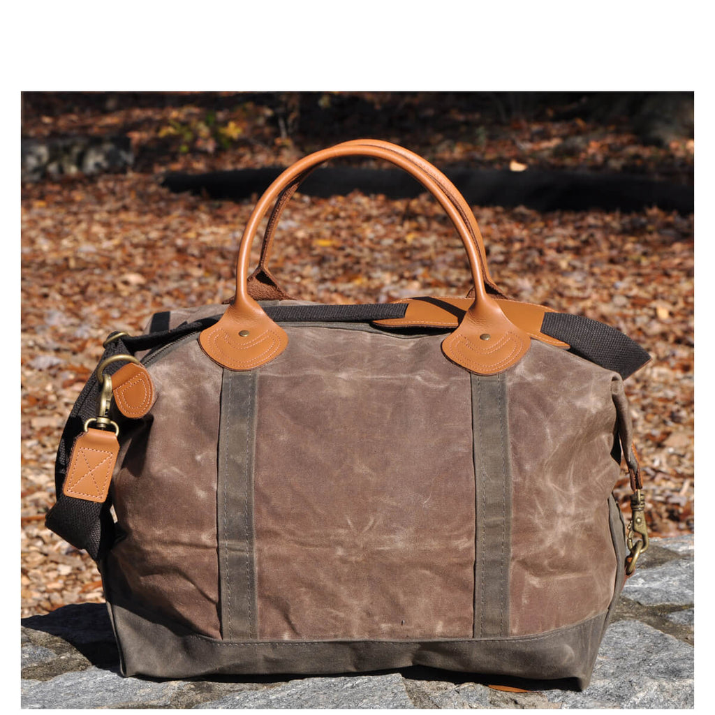 Personalized Waxed Canvas Weekender Duffle Bag