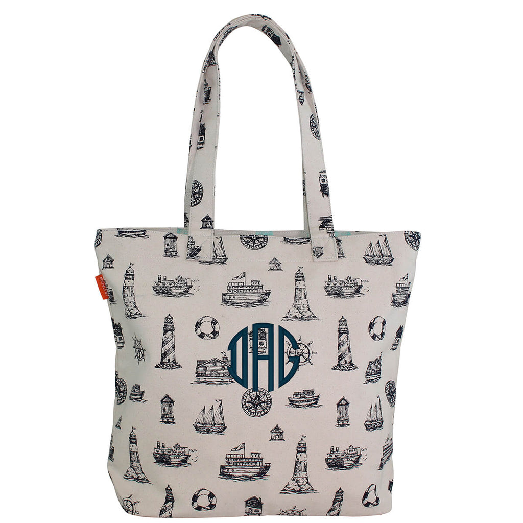 Personalized Waterfront Tote Bag