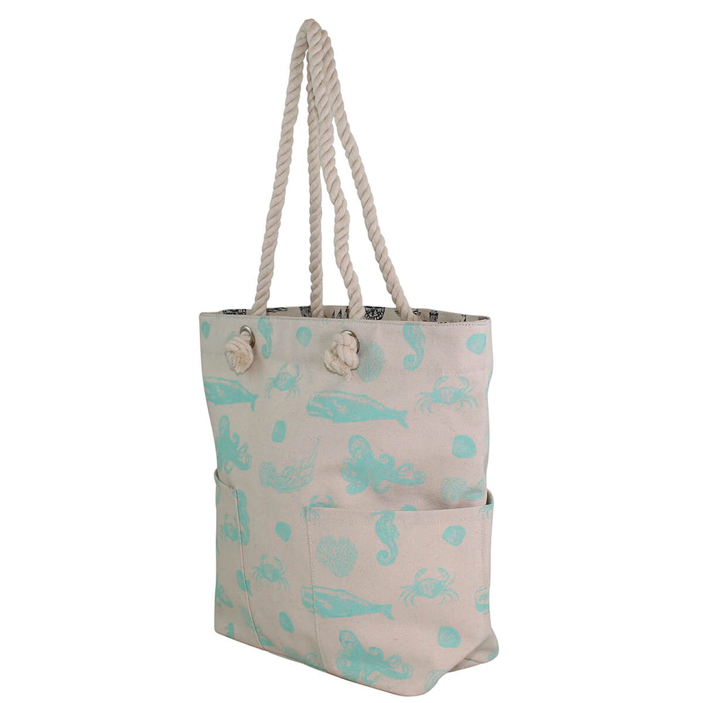 Personalized Knotted Marine Rope Tote