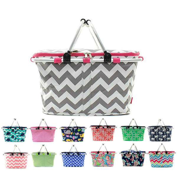 Large Picnic Basket Insulated Cooler Tote Bag