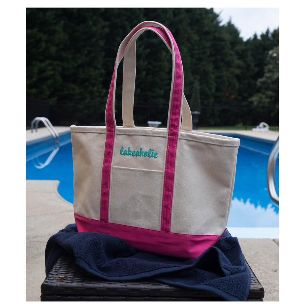 Personalized Heavy 24 oz Large Boat Tote Bag