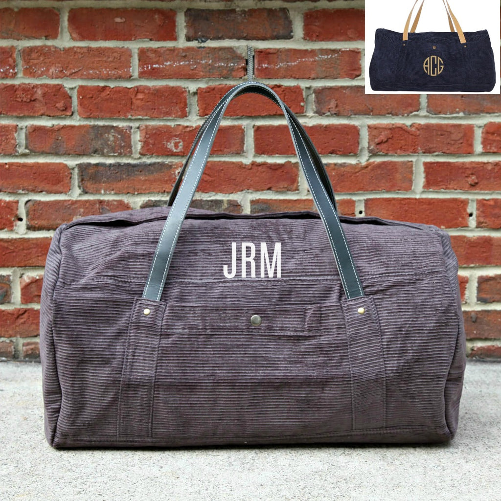 Personalized Modern Round Duffel Bag