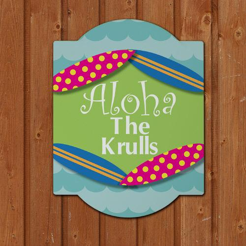 Personalized Summer Home Welcome Sign