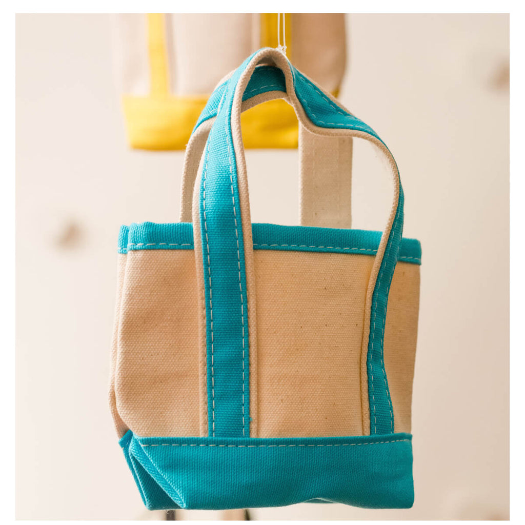 Personalized Mini Boat Tote Bag - Natural