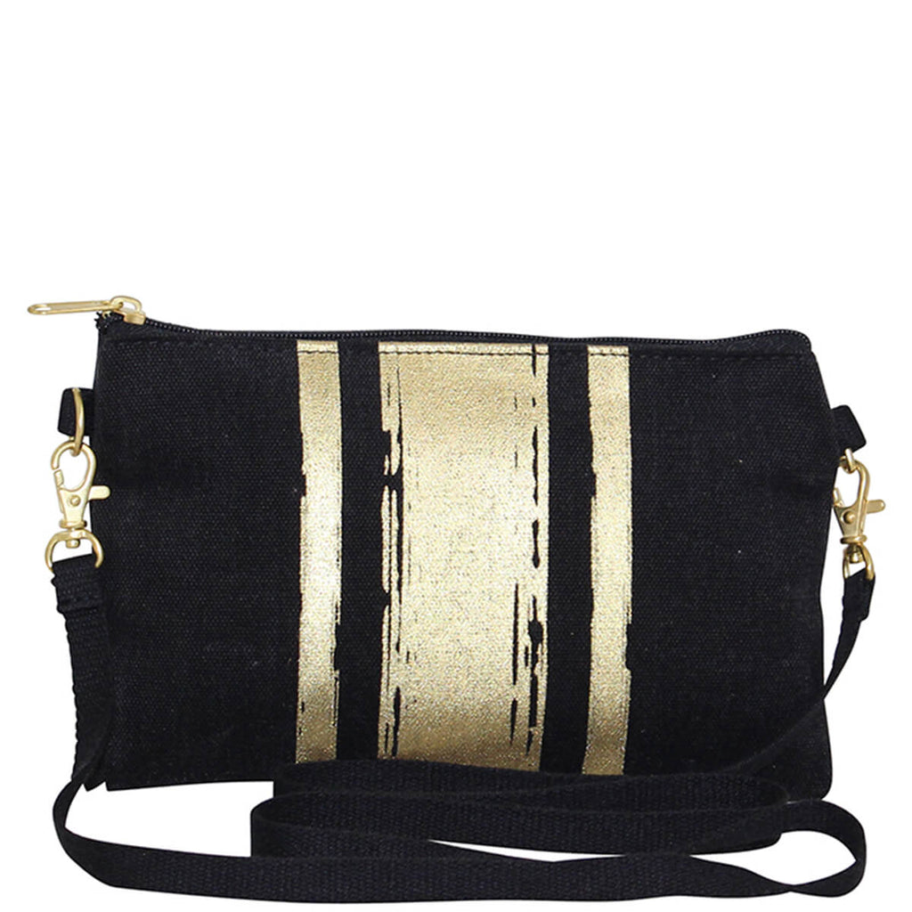 Personalized Brushed Canvas Crossbody Clutch
