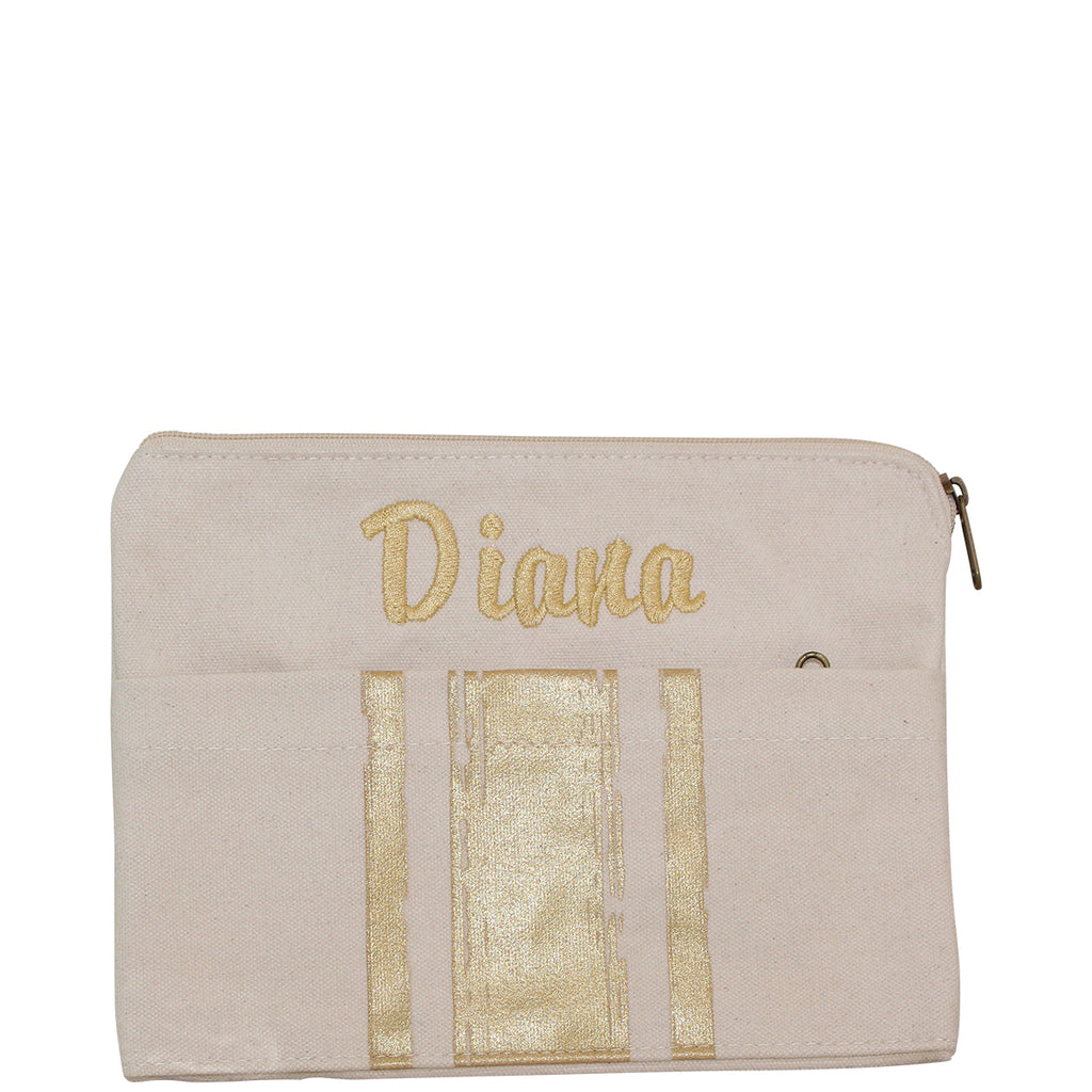 Personalized Brushed Canvas Pocket Clutch