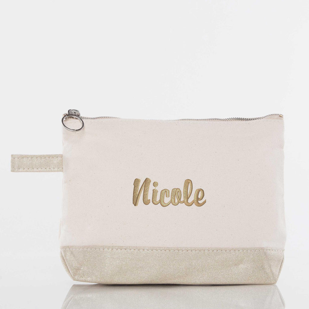 "Personalized Canvas 11"" Cosmetic Bag"