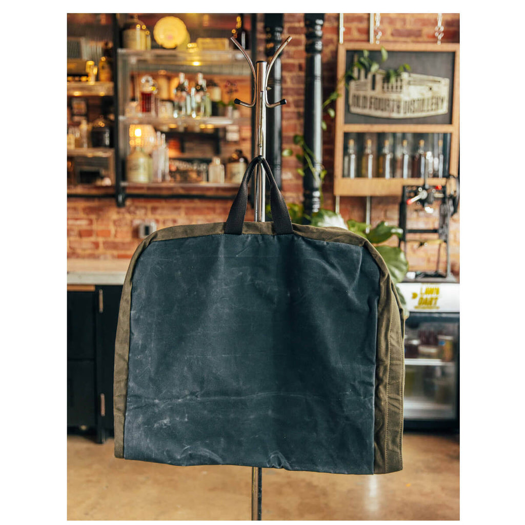 Personalized Waxed Canvas Garment Bag
