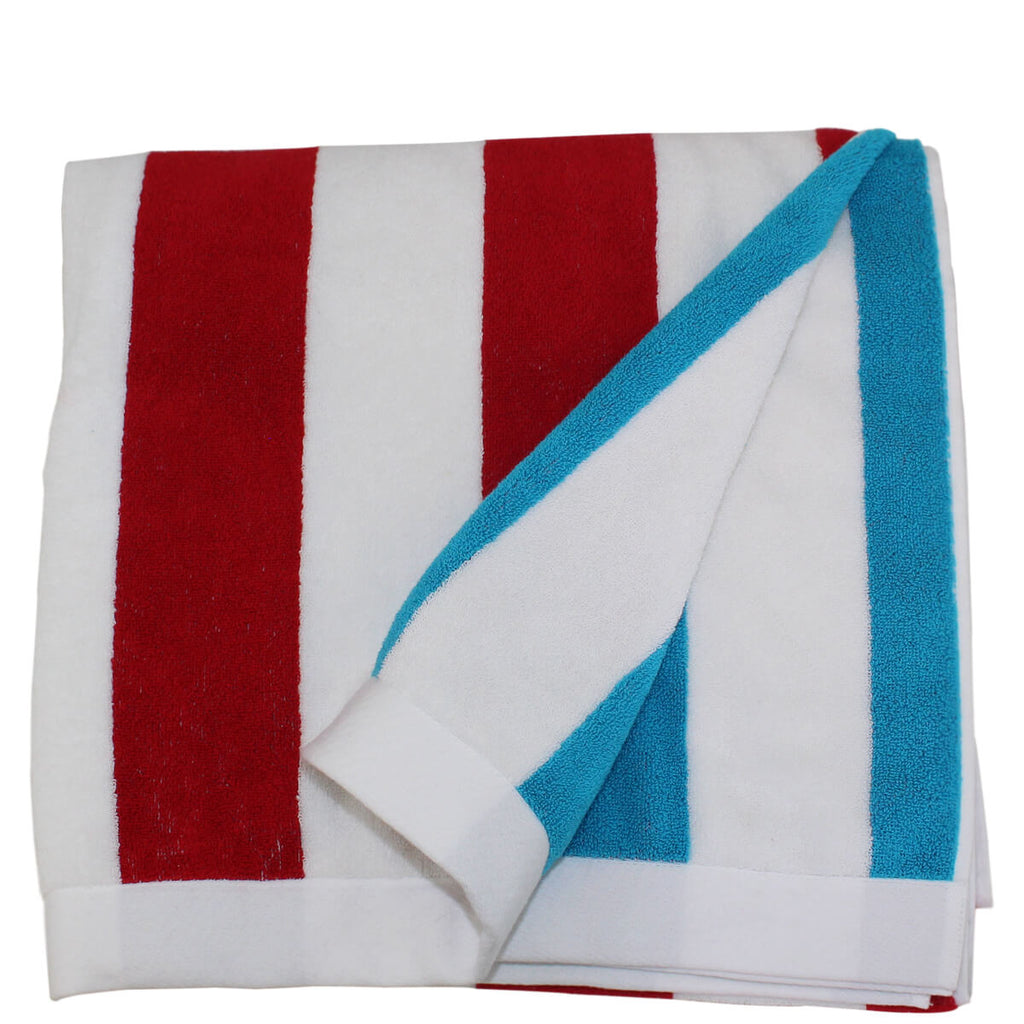 Personalized Reversible Stripe Beach Towels