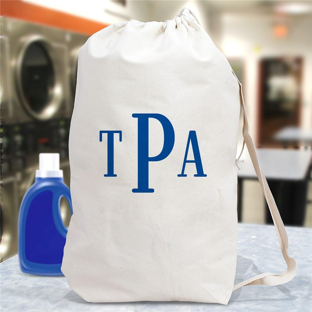 Personalized Block Monogrammed Laundry Bag