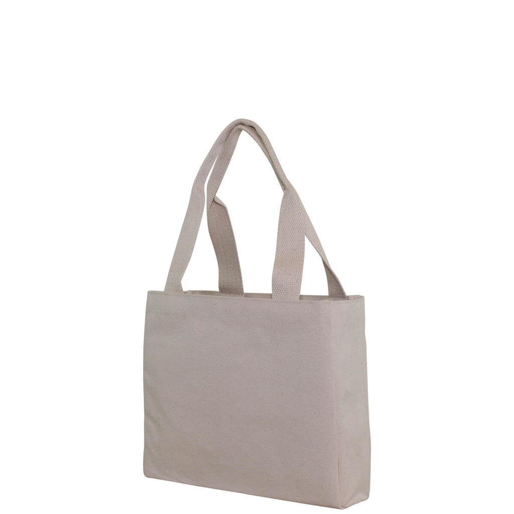 Personalized Small Classic Utility Tote Natural