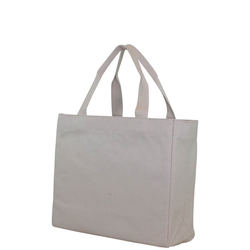 Personalized Large Classic Utility Tote Natural