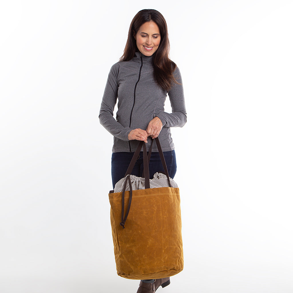 Personalized Waxed Canvas Laundry Tote Bag