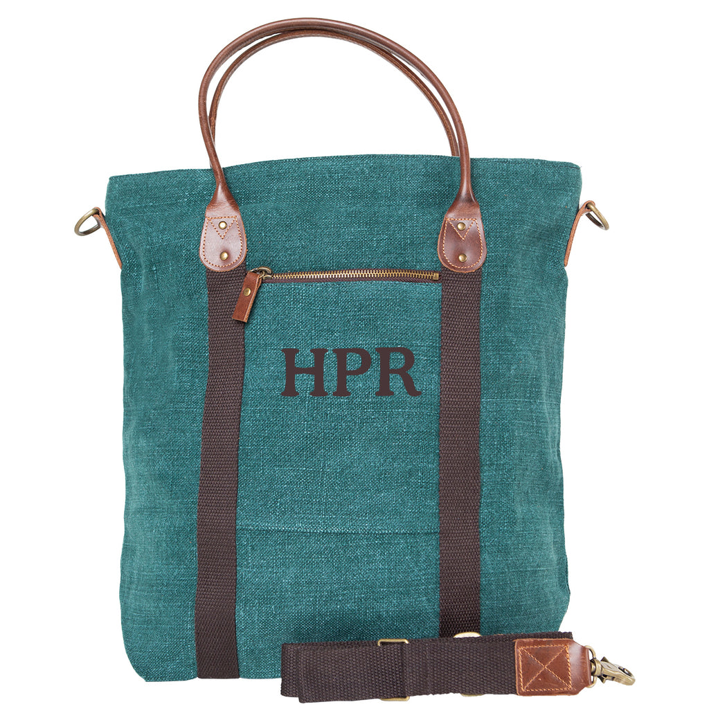 Personalized Jute Flight Bag Travel Duffle