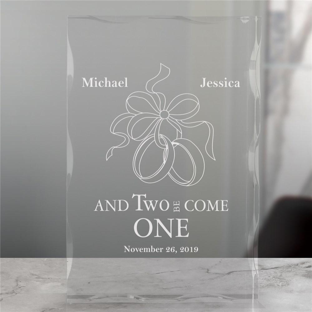 Personalized Engraved Wedding Keepsake Block