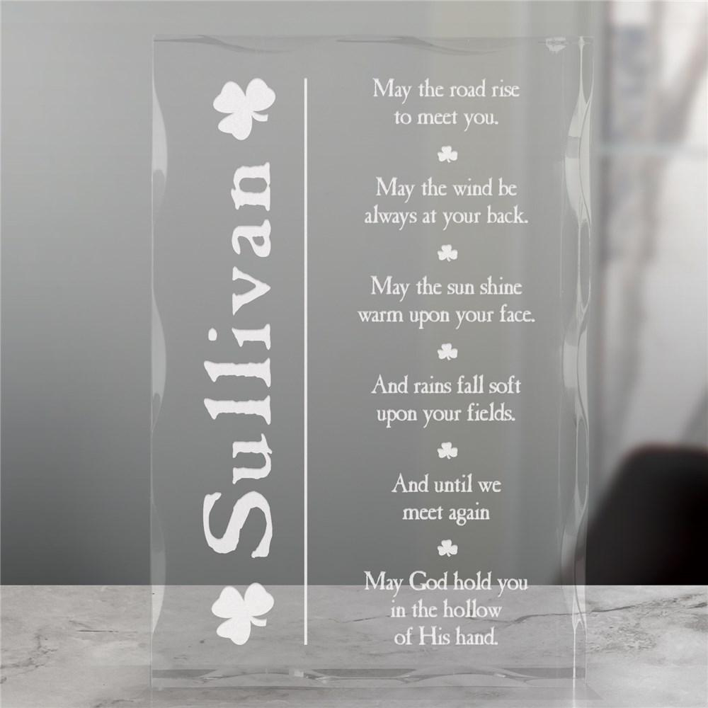 Personalized Irish Blessing Keepsake Block