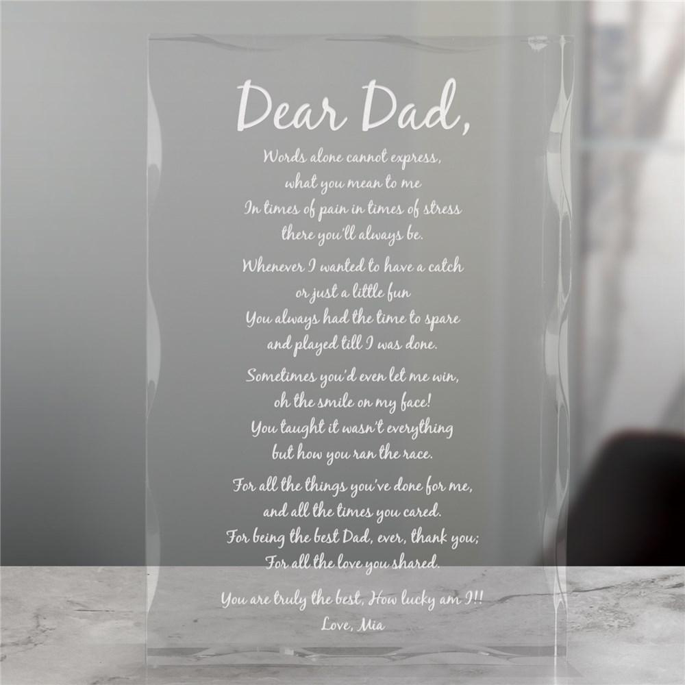 Personalized Engraved Poem Keepsake Block