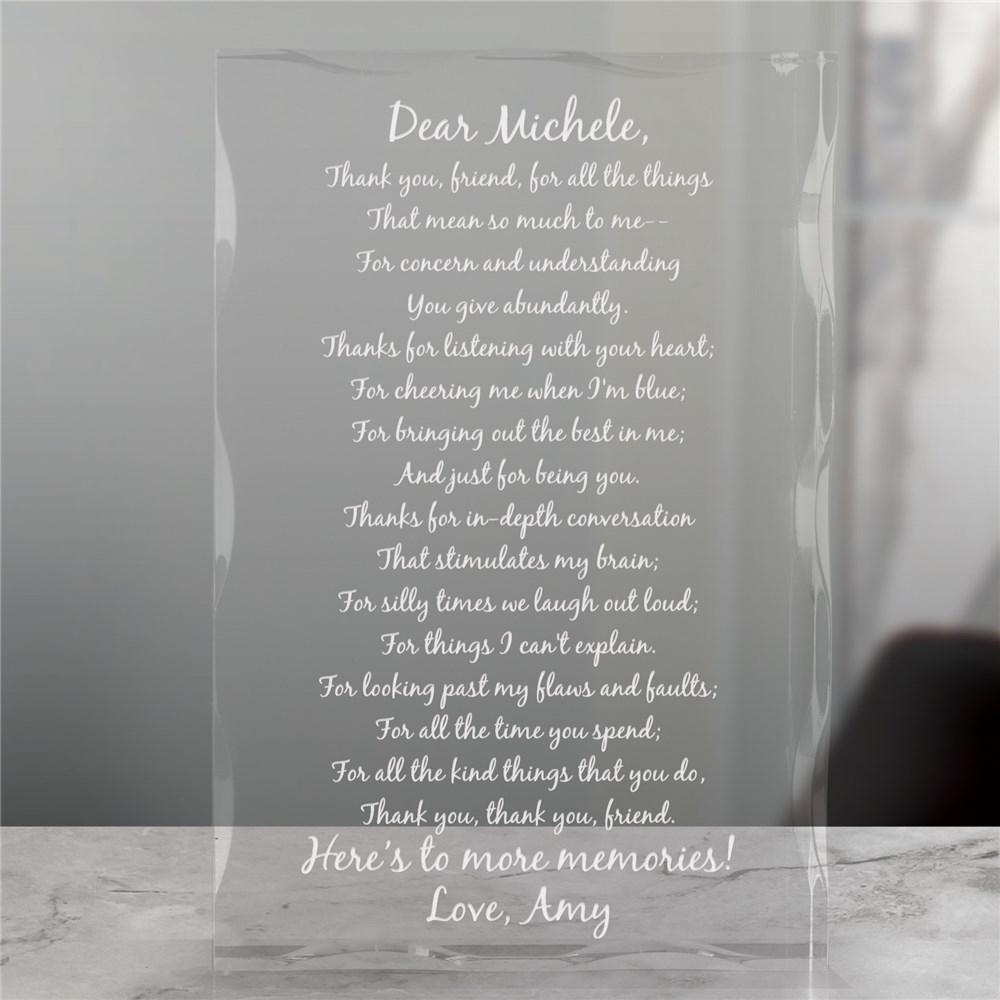 Personalized Friendship Keepsake Block