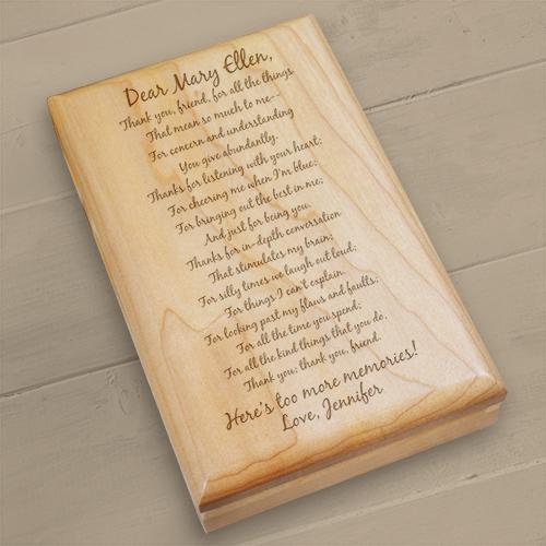 Personalized To My Friend... Wooden Keepsake Box
