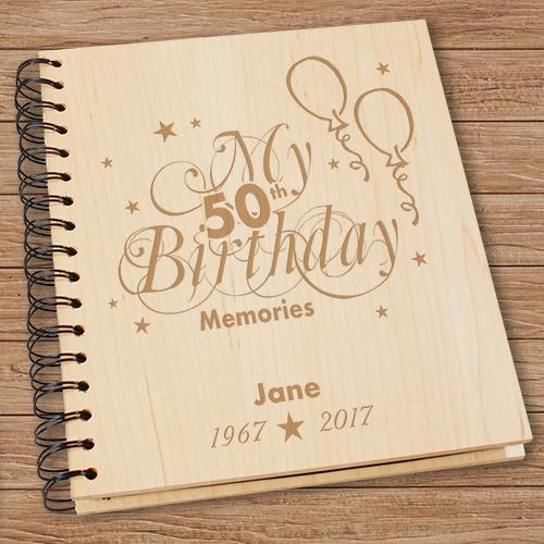 Personalized 50Th Birthday Memories Photo Album