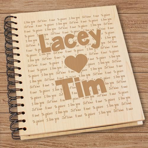 Personalized Engraved I Love You Photo Album