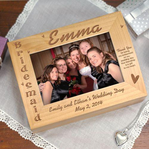 Personalized Bridesmaid Photo Keepsake Box