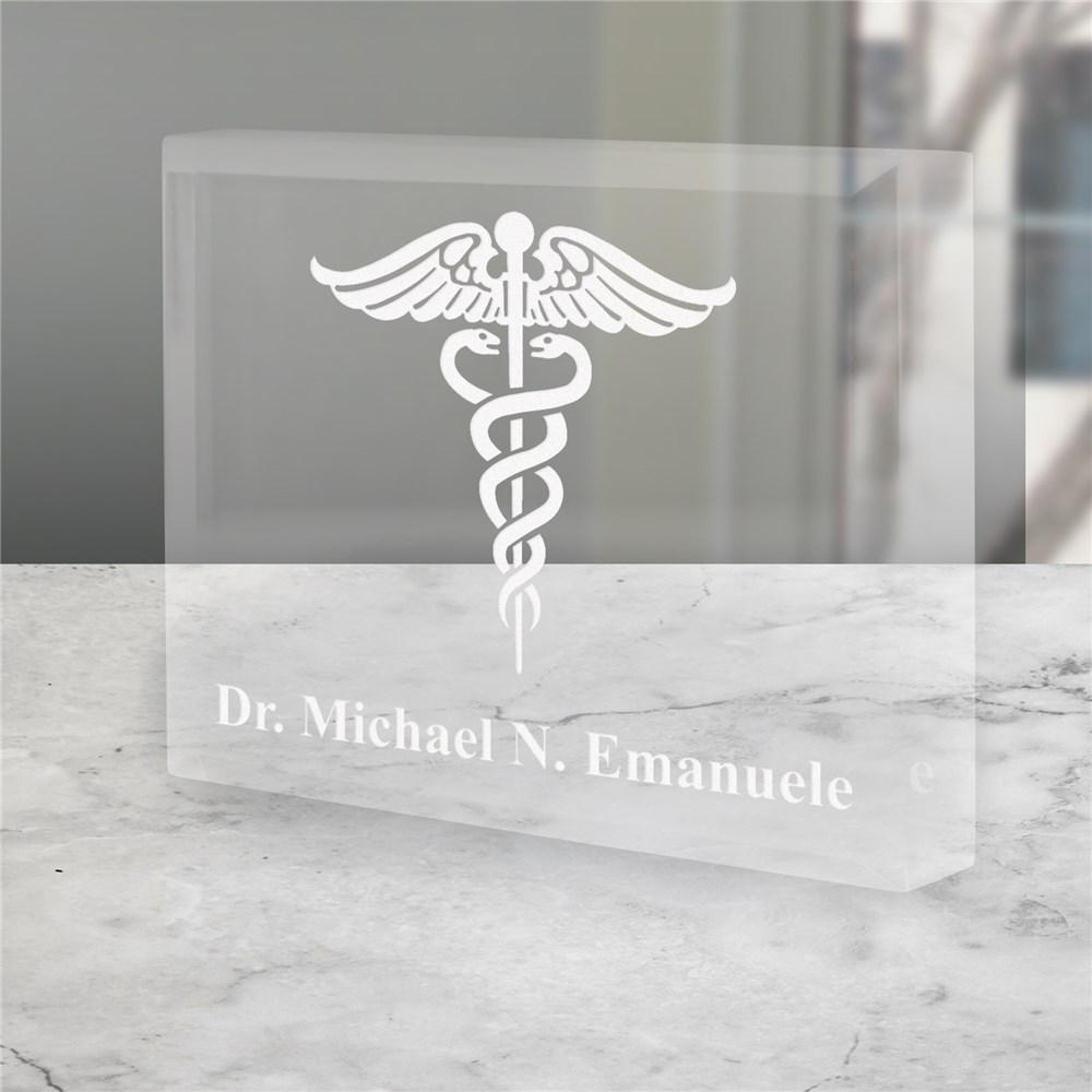 Personalized Medical Symbol Dr. Acrylic Paperweight